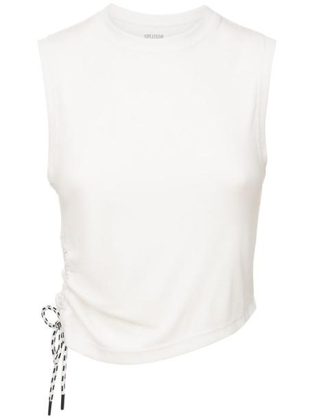 SPLITS59 Carmen Rib Tank Top in white