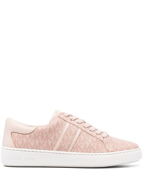 Michael Michael Kors monogram-print lace-up trainers in pink