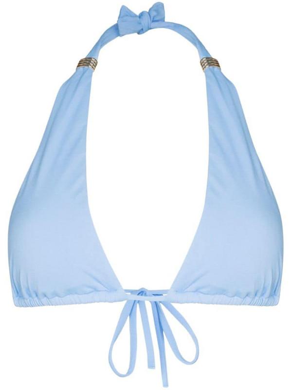 Melissa Odabash Grenada halter neck bikini top in blue