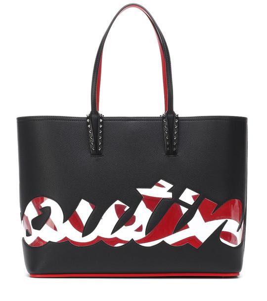 Christian Louboutin Cabata Logo leather tote in black