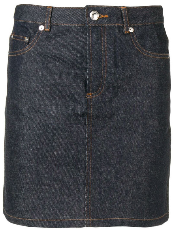 A.P.C. high waisted skirt in blue