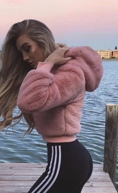 coat,teddy,fur,faux,bomber jacket,crop