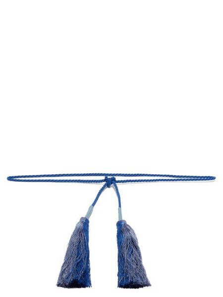 Zeus + Dione Zeus + Dione - Trikioni Tasselled Rope Belt - Womens - Blue