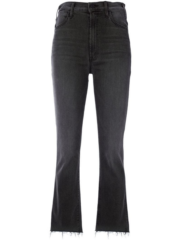 Mother high-rise flared jeans in grey