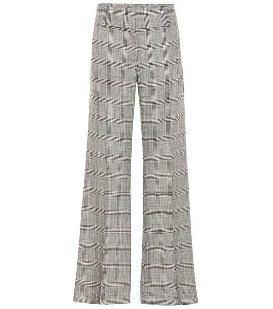 Frame Metropolitan checked wide-leg pants in grey