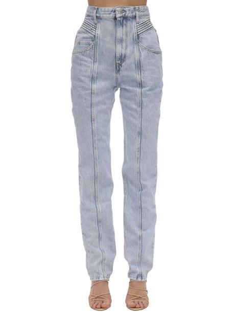 ISABEL MARANT ÉTOILE Henoya High Waist Cotton Denim Jeans in lilac