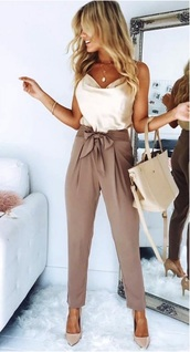 pants,office outfits,cute outfits,top,summer outfits,work outfits,fashion,outfit idea,spring outfits,date outfit