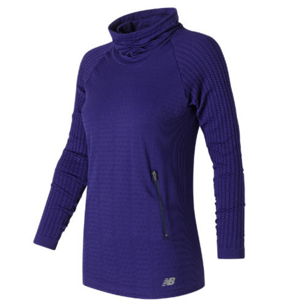 New Balance 63136 Women's M4M Seamless Cable Pullover - Navy (WT63136AVI)