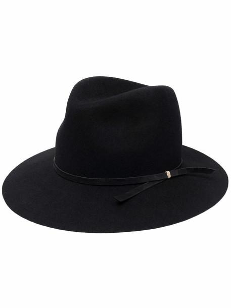 catarzi classic fedora hat - Black