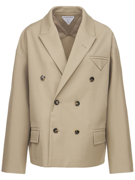 BOTTEGA VENETA Double Cotton Sanded Jacket in beige