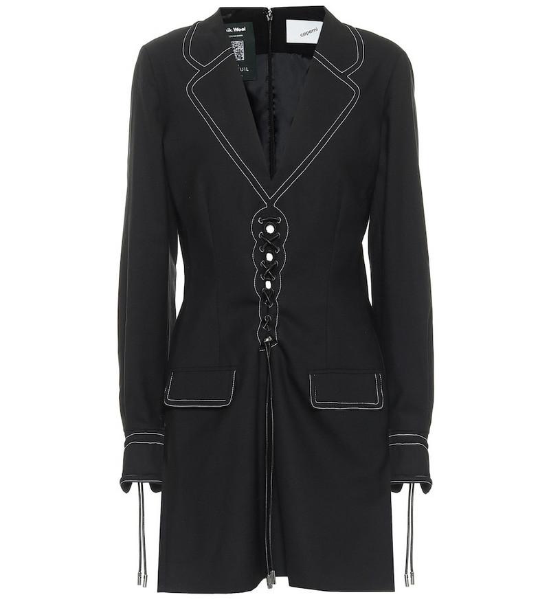 Coperni Safari wool minidress in black