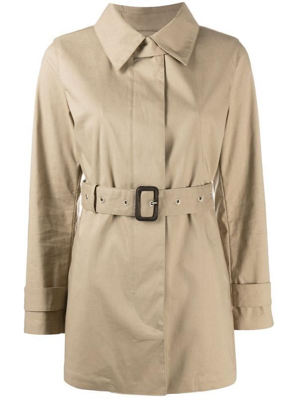 Mackintosh short Roslin belted trench coat in neutrals