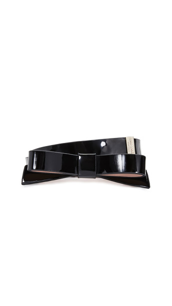 Kate Spade New York Classic Bow Belt in black / gold