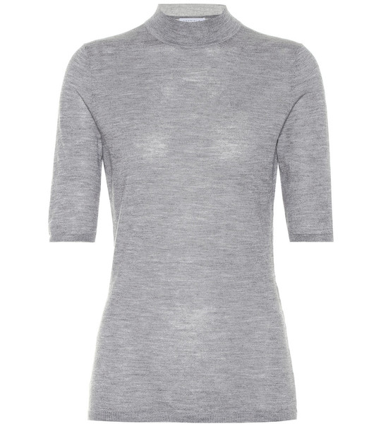 Gabriela Hearst Hugo cashmere and silk sweater in grey