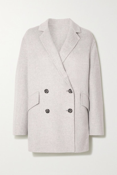 Joseph - Milburn Double-breasted Wool And Cashmere-blend Coat - Gray