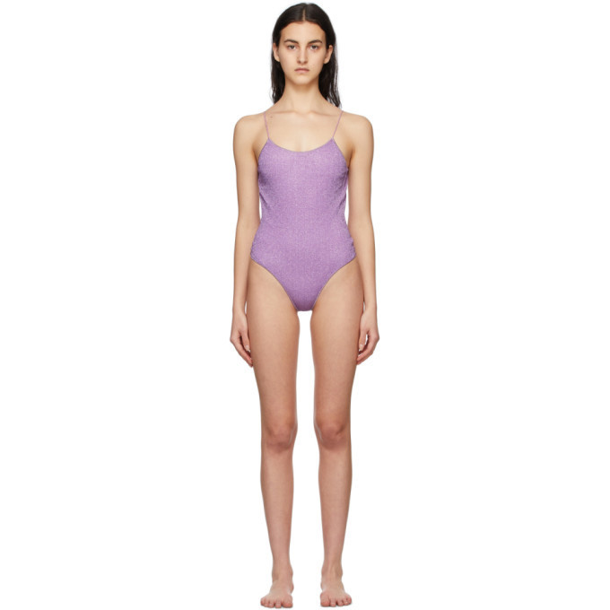 Oseree Purple Lumiere One-Piece Swimsuit in lilac