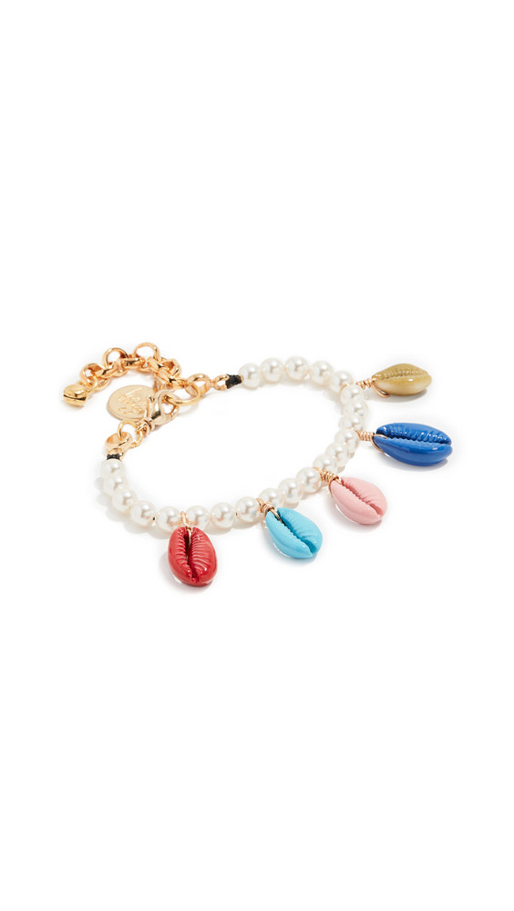 Venessa Arizaga Rainbow Shell Bracelet in multi