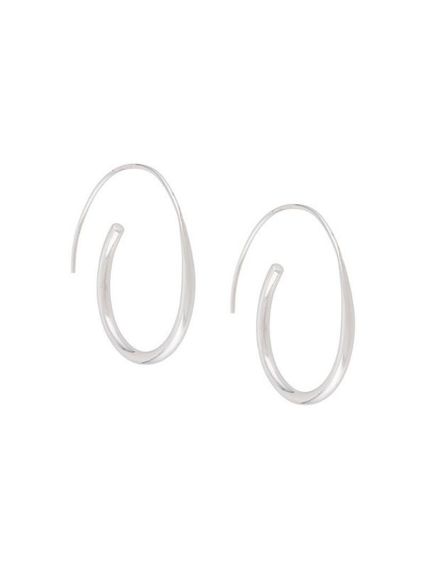 BAR JEWELLERY Arc hoop earrings in silver