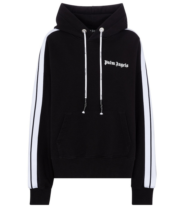 Palm Angels Cotton jersey hoodie in black