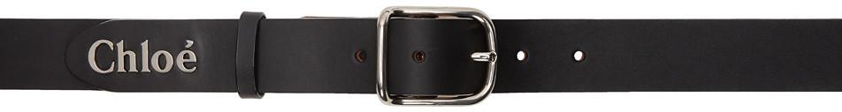 Chloé Chloé Black Classic Logo Belt
