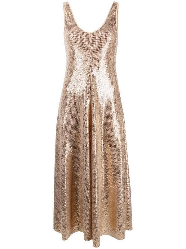 Forte Forte high-shine sleeveless dress in gold
