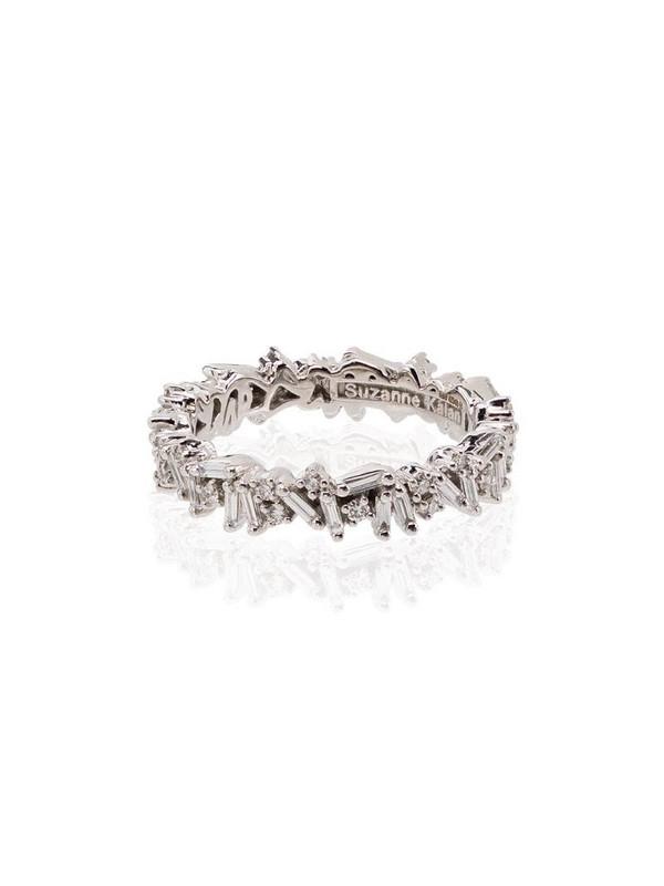 Suzanne Kalan 18kt white gold Icon baguette diamond ring in metallic