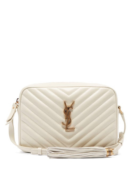 Saint Laurent - Lou Quilted Leather Cross Body Bag - Womens - White