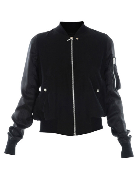 Rick Owens Bomber With Zip in black