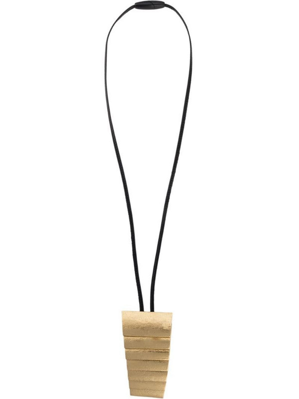 Monies layered tapered pendant in gold