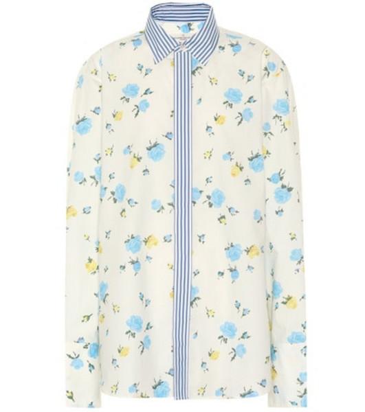 Golden Goose Deluxe Brand Jessie floral cotton shirt in white