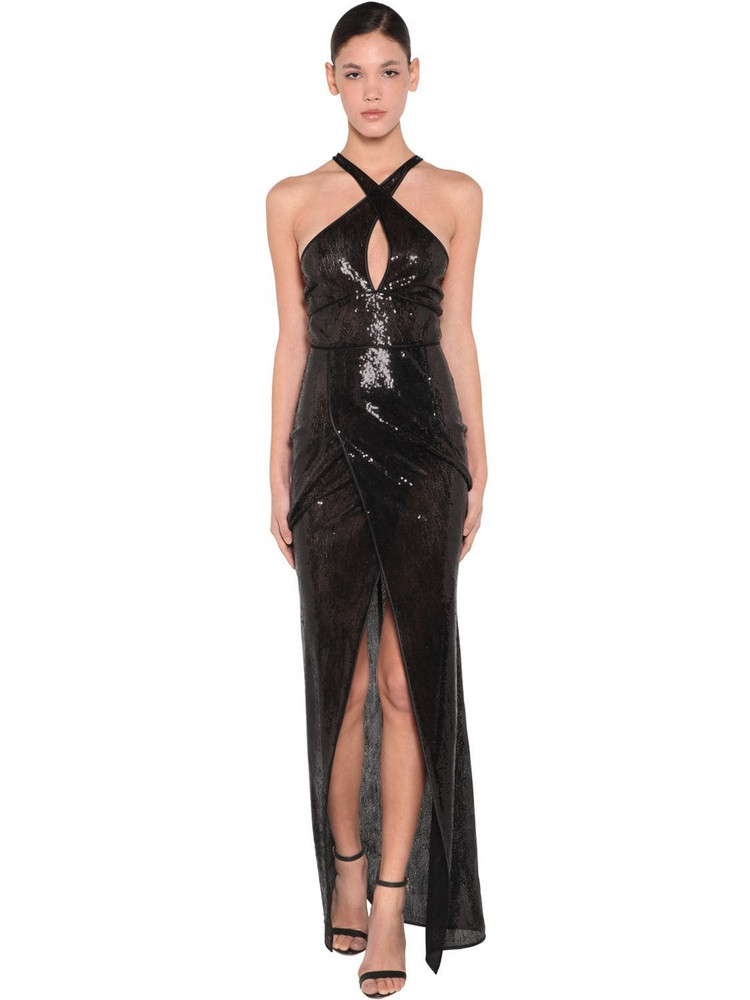 DSQUARED2 Long Sequined Dress in black