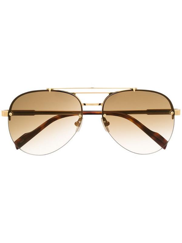 Cutler & Gross 1372 aviator sunglasses in gold