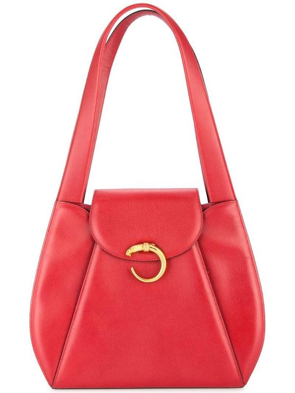 Cartier Panther shoulder bag in red