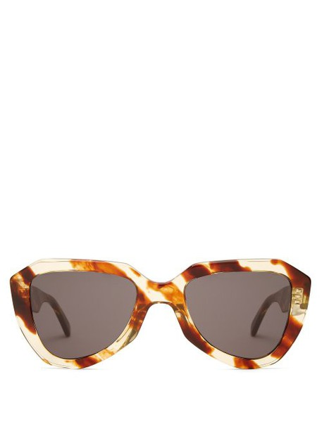 Celine Eyewear - Aviator Acetate Sunglasses - Womens - Brown Multi