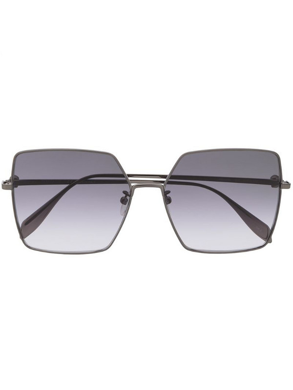 Alexander McQueen square-frame sunglasses in black