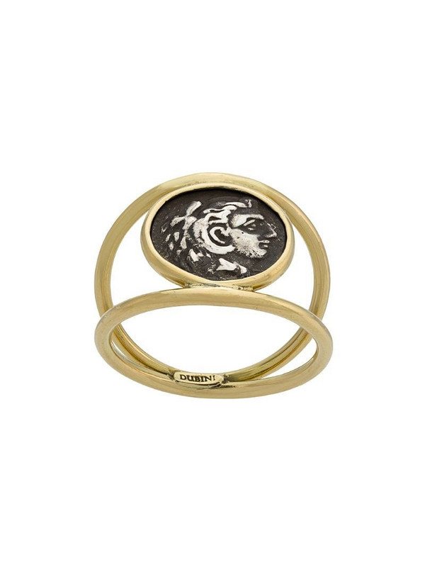 Dubini Alexander the Great Coin 18kt gold ring in metallic