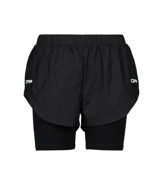 Off-White Logo running shorts in black