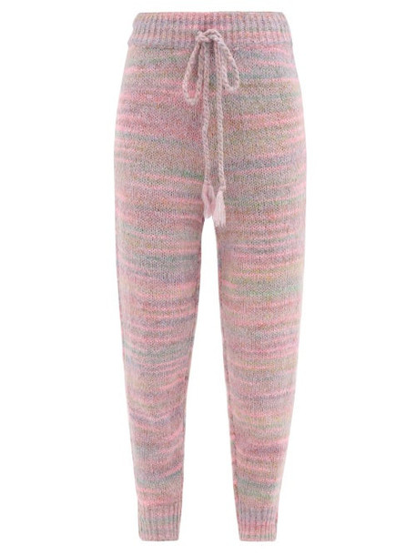 Loveshackfancy - Olvera Striped-jacquard Knit Track Pants - Womens - Pink