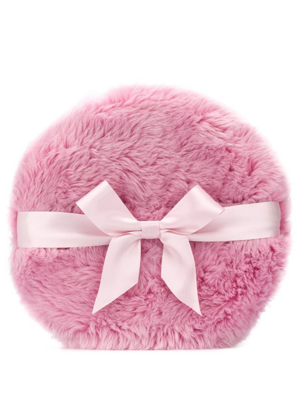 Moschino bow-embellished pillow clutch in pink