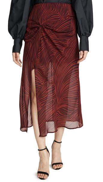 The Fifth Label Region Skirt in merlot