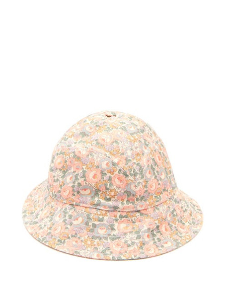 Gucci - Floral-print Bucket Hat - Womens - Multi