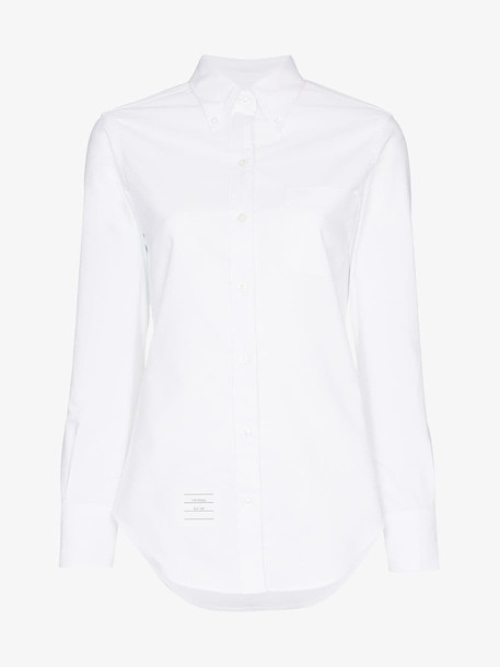 Thom Browne THOM LS BUTTON DOWN SHIRT in white