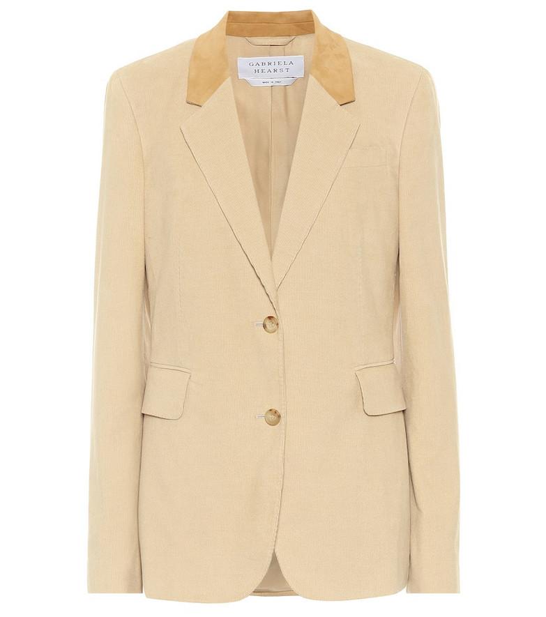 Gabriela Hearst Sophie cotton blazer in beige