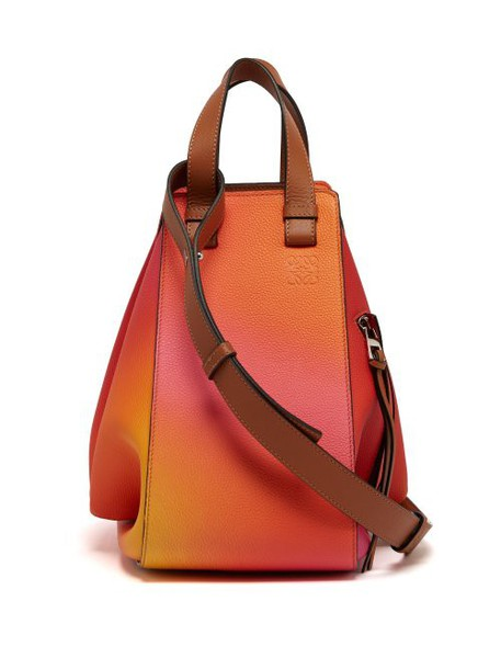 Loewe - Hammock Medium Leather Tote Bag - Womens - Pink Multi