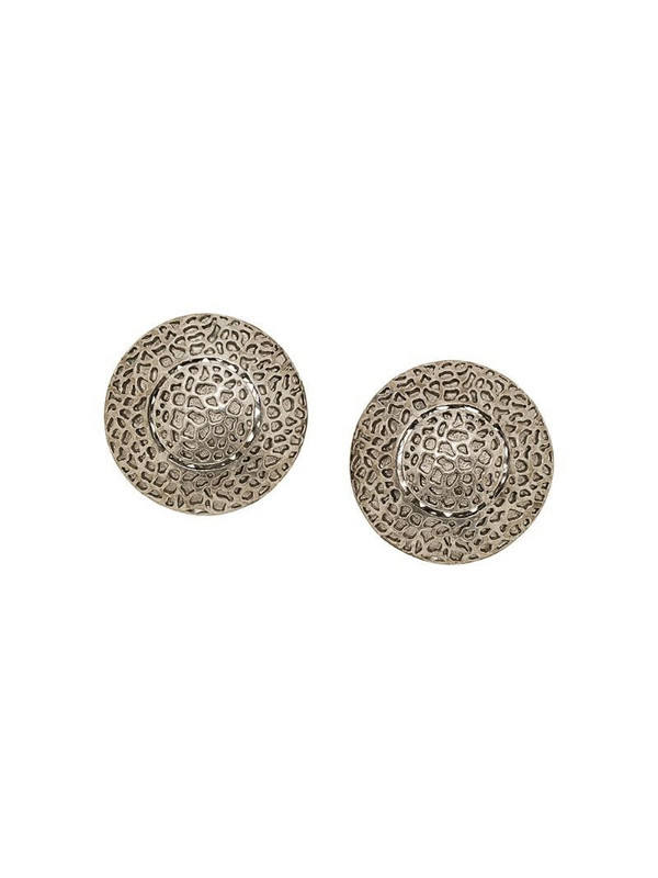 A.N.G.E.L.O. Vintage Cult 1980s cut-out button earrings in silver