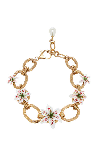 Dolce & Gabbana Lily-Embellished Chain Necklace