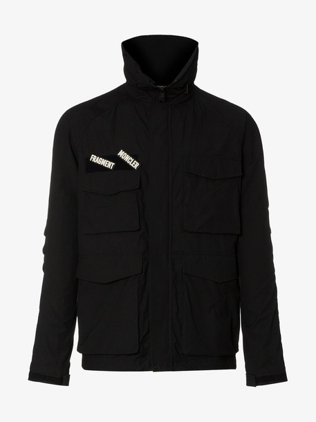 Moncler Genius Black X Fragment pocket detail jacket