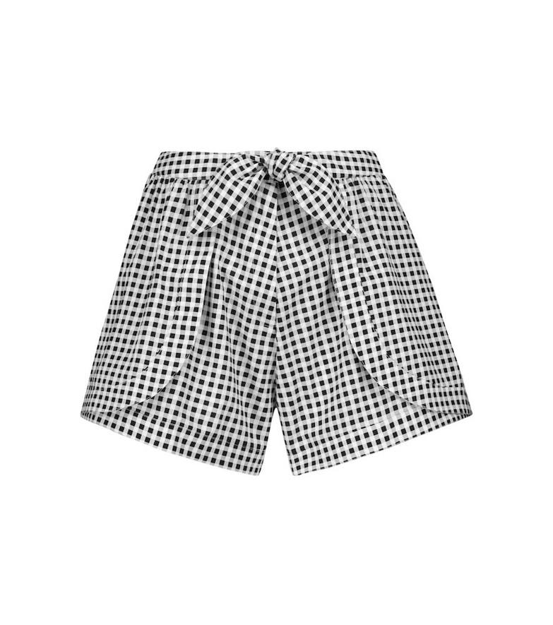 Alexandra Miro Exclusive to Mytheresa – Natalia gingham cotton shorts in black