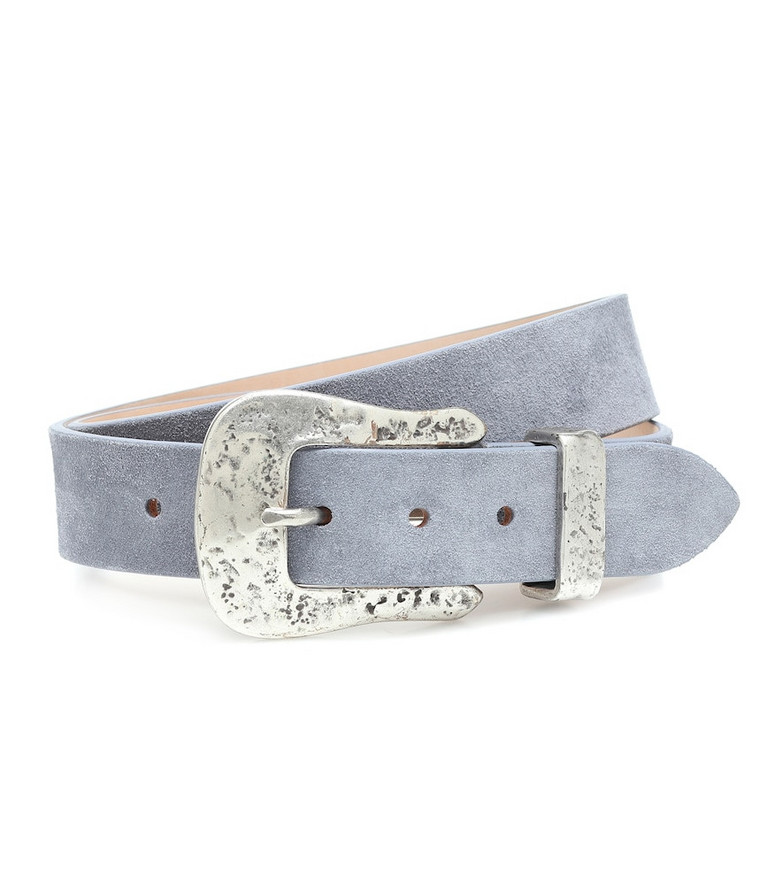 Isabel Marant Exclusive to Mytheresa – Derni suede belt in blue
