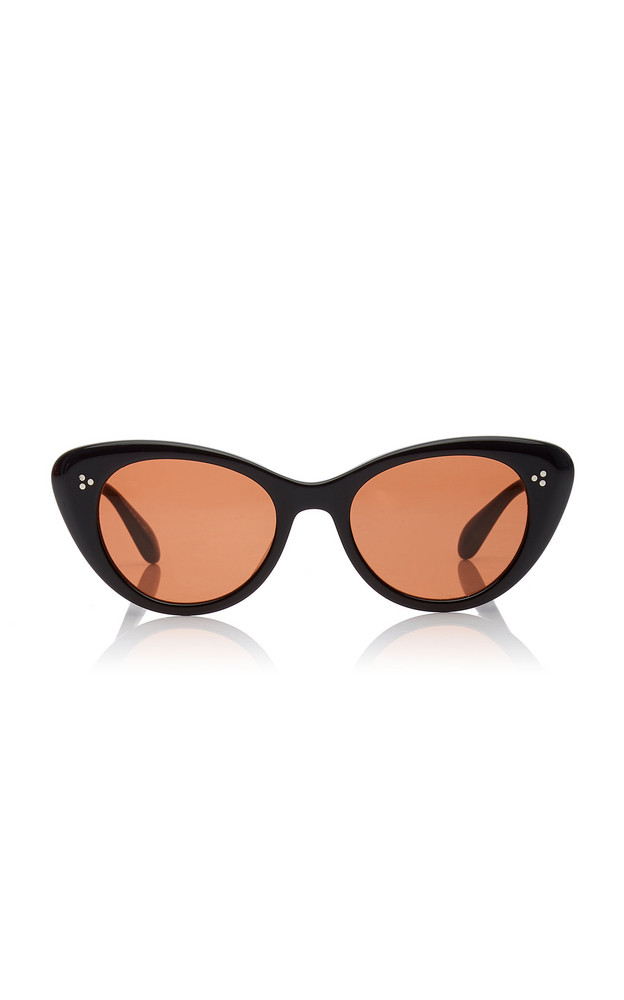 Oliver Peoples Rishell Cat-Eye Acetate Sunglasses in black